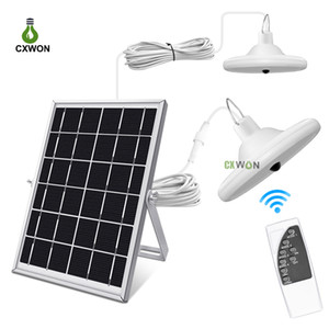 Модернизированный 56LEDs Солнечный свет лампы 1000LM Водонепроницаемый Солнечный Дом Свет Крытый Солнечный свет Shed 5М кабель
