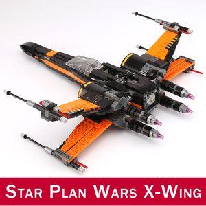 742pcs erste Ordnung X-Wing Fighter BB-8-Bausteine Figuren Spielzeug Kompatibel DIY 75102 10466 05004 Stern-Plan Wars-Serie