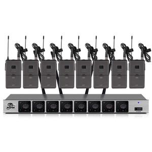 sistema microfonico wireless professionale con 8 canali famiglia microfono Lavalier scuola KTV wireless palcoscenico all'aperto