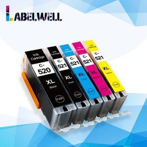 Labelwell cartouches d'encre PGI 520 CLI 521 Remplacer pour Canon PIXMA iP3600 4600 4700 MP 550 540 560 620 630 640 520 MX860 Imprimante