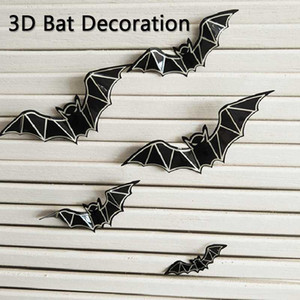 12pcs set 3D Bat Decoration Wall Sticker Halloween Decoration DIY Room Wall Decals Home Party Decor for Halloween Stickers