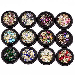 3D DIY Nail Art Decorations Beauty Magical Crystal Rhinestone Jewelry Circle Nail Art Tools Diamond Decoration Kit