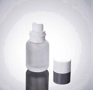 50ML Frost Glas Kosmetik-Flaschen 1,7 Unzen Glas Lotion Flaschen 50CC Glass Press Flasche mit Kappe Leere Flasche SEEverschiffen RRA3608