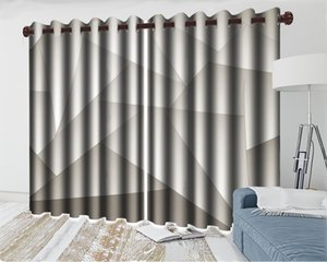 3d Modern Curtain Window Wholesale Curtain For Living RoomGeometric Triangle Child Bedroom Blackout 3d Curtain