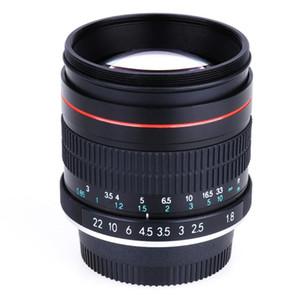 CANON EOS EF DİJİTAL DSLR fotoğraf makineleri için Jintu 85mm F1.8 MANUEL ODAK TAM ÇERÇEVE PRIME LENS PORTRE LENS