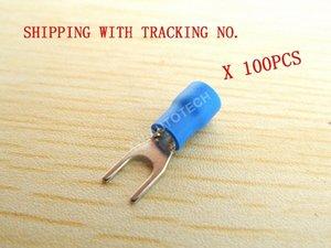 (100pcs) masculina azul de cobre con aislamiento de cables Terminal conector rápido 16-14 Gauge Medidor de desconexión rápida Conector para ALTA POTENCIA 7OHy #