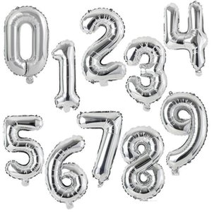 2020 40 inch Large number balloon 1 2 3 4 5 Number Digit Helium foil Ballons Baby Shower Birthday Party Wedding Decor Party