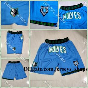 Mens Minnesota.MadeiraLobosApenas Don Bolso Shorts Vintage Costurado Shorts Forro de Malha Esportes Mitchellness Bolso Sweatpants