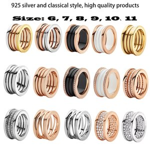 luxury high quality Bulgarian S925 sterling silver ring fashion jewelry for ladies and couples ring engagement gift