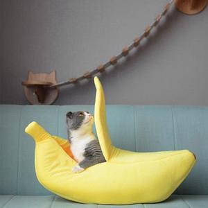 Divertente Banana Cat Bed carino casa accogliente della stuoia del gatto letti caldi durevoli portatili accessori per la casa ammortizzatore dell'animale domestico carrello canile Multicolor