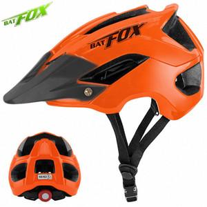 BATFOX Casque de vélo VTT Casque de vélo Hommes Femmes d'Orange Cyclo VTT Cyclisme sur route Sécurité à l'extérieur Sport Big Visor 1uBn #