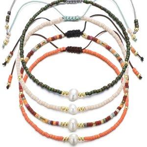 10 цветов Миюки браслет ручной работы тканые Rope цепи Регулируемая Delica Seed Beads Pearl браслет для женщин партии ювелирные подарки