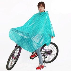 Brasão Moda Onda de bicicleta Raincoat Homens Mulheres Cape Poncho com capuz Windproof Mobility Scooter Capa de Chuva