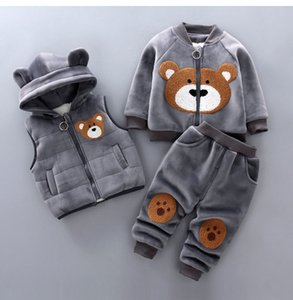 LZH Children Clothing 2020 New Autumn Winter Toddler Boys Clothes Costume Outfit Kids Girls Clothes Suit For Boys Clothing Set X0923