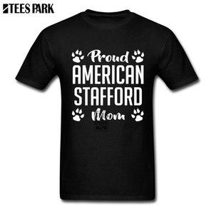 Simples camiseta Prond americano Stafford Mom T shirt dos homens venda em torno do pescoço de manga curta roupa Grandes Homens Hommes Camisetas masculinas