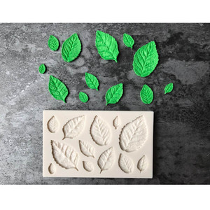Leaves Shape Silicone Mold Kitchen Accessories Cake Moulds Gumpaste Candy Cookies Fondant Decoration Easy To Use Soft Tools Chocolate Mol
