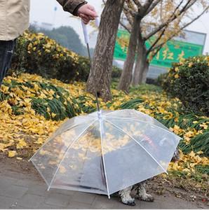 Pet зонтик Тедди Открытый Waterpoof Transparent Зонты Длинные Handing Зонты с поводка собак Puppy сухо и комфортно в дождь LSK1173