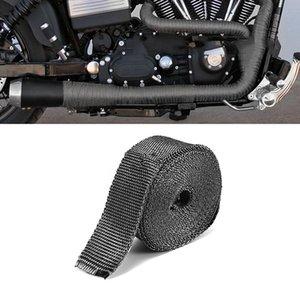 الحد من لفة للدراجات النارية العادم الأنابيب العازلة للحرارة التفاف 1.5mmx50mmx5m الضوضاء تأمين الشريط الأسود عالية العزل القماش