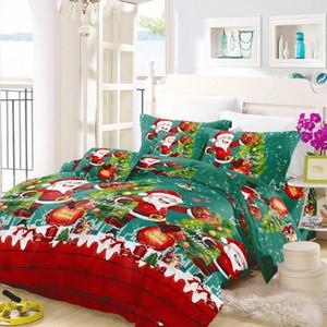 Qualitäts-Polyester-Baumwoll Weihnachtsgeschenk 3D Christmas Bettwäsche Bettbezug Kissen Einzel Queen Size Queen Duvet Covers Voll ngy3 #