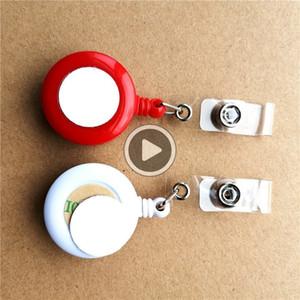 neue Ankunft Sublimation leerer Kunststoff versenkbare Schlüsselketten-Halter heißen Transferdruck leere Verbrauchsmaterialien