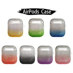 Gradient Candy Color Transparent TPU Case For Apple AirPods 1 2 Wireless Headphone Protector Silicone Cover