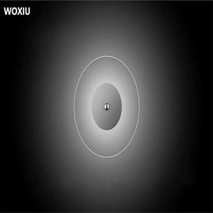 Woxiu Led Ins stile nordico semplici lampade da parete Moda rotonda luci trasparente paese dell'interno Luci Decor Corridor