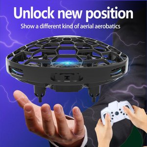 Aircraft UFO Sensing Smart Gesture Flying Induction Magic Remote Drone Watch Control Mini RC Gift Ball Helicopter Toy Handle Ulibe