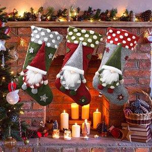 2020 عيد الميلاد الديكور تورد 20 بوصة الضأن أسفل مجهولي الهوية قزم ثلاثي الأبعاد دمية الجوارب عيد الميلاد في 3 أساليب T3I51098