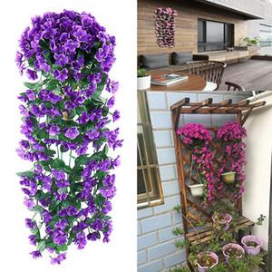 Hochzeit Wandbehang Blume Orchidee Gefälschte Blume hängenden Korb Grünpflanze Efeu Künstliche Pflanzen Wohnkultur