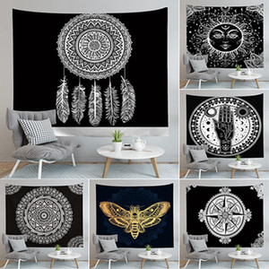 Mandala Tapestry Hippie Wall Hanging Flower Digital Impresso Bohemia Colcha Praia Mat Toalha Yoga Mat Blanket IIA586