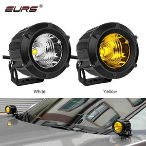 25W Car Headlight LED Work Light Bar Spotlight for Off Road white yellow Motorcycle headlamp Auto Driving Fog Light Car Styling