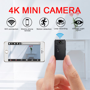 4K Mini Camera WiFi Smart Wireless Camcorder IP Hotspot HD Night Vision Video Micro Small Cam Motion Detection Vlog Espia
