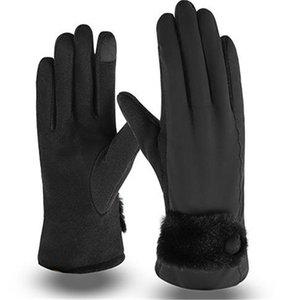 خمسة أصابع قفازات MS هان طبعة جميلة فم إضافة غرامة الشعر سماكة ركوب دافئ لمس الشاشة ST-602