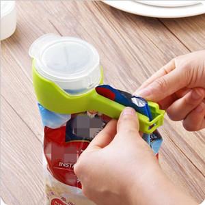 12colors Seal Pour Food Storage Bag Clipe Food Sealing Clipe braçadeira com grande descarga Ferramentas Bico Cozinha de armazenamento de alimentos YYA475 transporte marítimo
