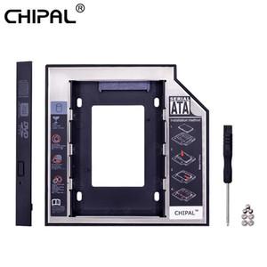 Equipo de oficina Chipal universal Segundo disco duro SATA de 12,7 mm Caddy 3.0 para SSD 2.5 Caso Caja para disco duro con indicador LED para
