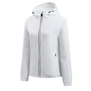 Women Jackets Coat Fashion New Stylish Hooded Jacket Women Windbreaker Zipper Hoodies High Qualuty Sportwear White and Pink M-2XL