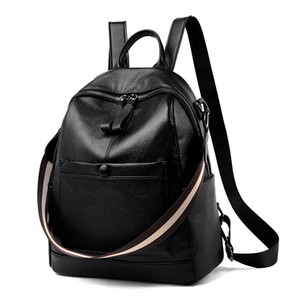 2020 New Hot Sale Casual Leather Backpack Women Youth Backpacks For Teenage Girls Female School Bag Women Shoulder Travel Bags hqY8#