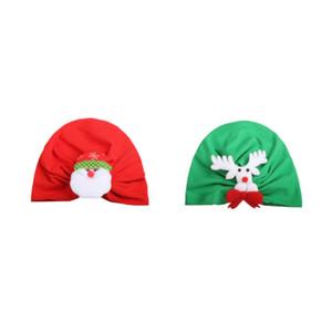 Baby Girl Boy Christmas Santa Claus Elk Print Elastic Hats Turban Cap Cute Soft Infant Hair Accessories