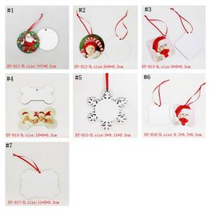 التسامي MDF جولة ساحة الثلوج عيد الميلاد الحلي ديكورات نقل الساخنة الطباعة diy فارغة هدايا عيد الميلاد المستهلك AHF1689