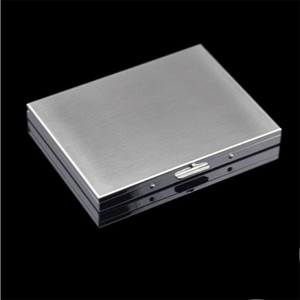 302 Cigarette Boîtier en acier inoxydable Boîte carrée Originalité Personnalité Container Nouveau modèle Résistance Affaires commerciales à tomber 11hy F2