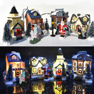 Рождество LED Смола Glow дом игрушки Рождественские украшения дома Санта-Клауса Рождественская елка Xmas Детские подарки CYZ2751 море доставка