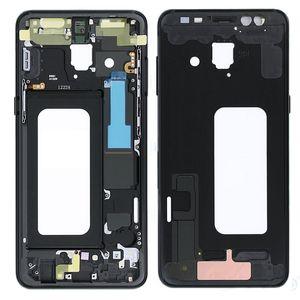 Frente bastidor medio de Vivienda del bisel del chasis para Samsung Galaxy A8 2018 A530 A530F Volver placa frontal con botones laterales de piezas