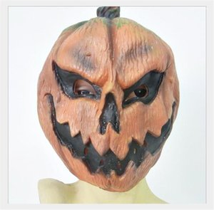 House Scary Pumpkin Head Mask Funny Dress Party Cosplay Costume Accessories Halloween Pumpkin Mask Designer Haunted