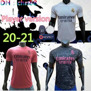 Версия для игрока REAL MADRID Джерси 20 21 ОПАСНОСТИ SERGIO RAMOS футбол Джерси Бензема Виниций футбол Джерси Camiseta рубашка форма 2020 2021