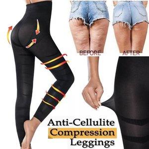 Taille haute femmes Sculpter sommeil jambe Legging plastron ventre culottes Skinny Leggings Minceur Pantalons Cuisse Slimmer