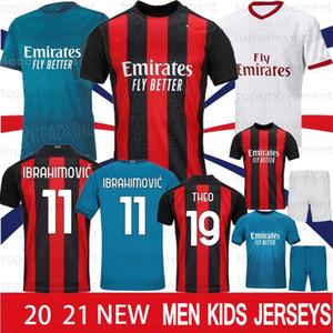 التايلاندية AC ميلان 20 21 جديد كرة القدم القميص الفانيلة 2020 2021 IBRAHIMOVIC بياتك كرة القدم باكيتا سوسو هيجوين CALHANOGLU CALDARA الرجال البلوزات