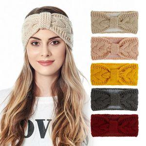Women Knitted Headband Solid Woollen Coarse Wool Bandana Ear Warmer Turban Fashion Casual Head Wrap Makeup Face Washing Headbands FWC4186