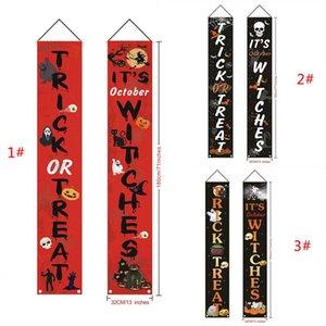 Puerta de Halloween Banner de Halloween Ghost Festival de Copla Copla colgantes de Halloween Porche Banderas Regístrate Banderas para la puerta delantera de la decoración DHA798