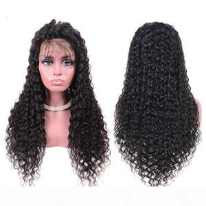 Wondero insancıl su Dalga Wigy Kıvırcık 360 Lacy Frontal Wige Preplucked Remy 13x6 Dantel Ön İnsan Saç Peruk İçin Siyah Kadınlar