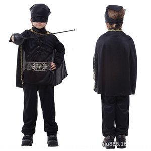 Acting Lfh77 Pgaj0 Masquerade Tabella Costume Zorro mascherato prestazioni Flash Cavallereschi Abbigliamento Adult Clothing Suit Halloween